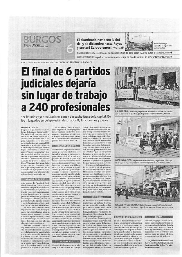 Diario de Burgos - 21 Noviembre 2013