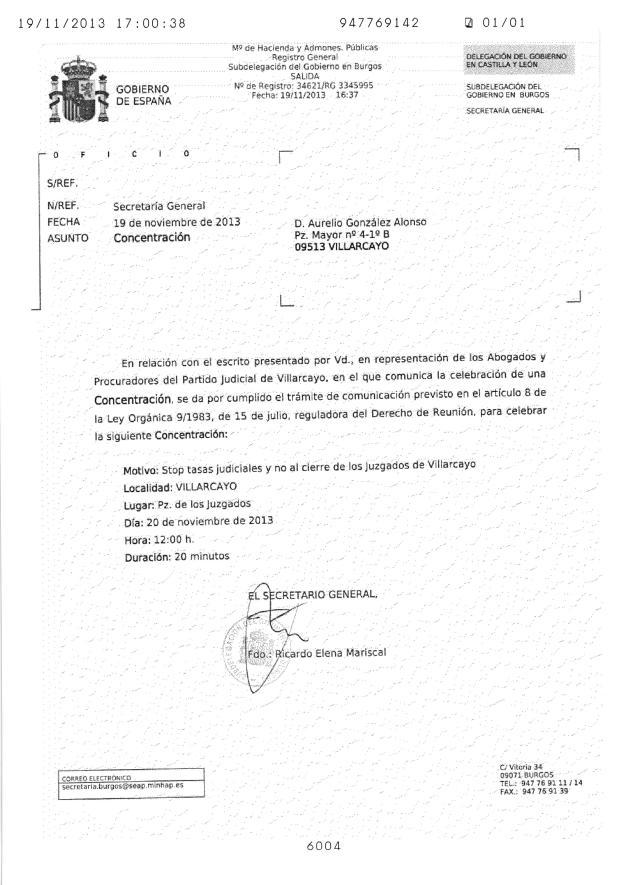 SUBDELEGACION DE GOBIERNO DE BURGOS