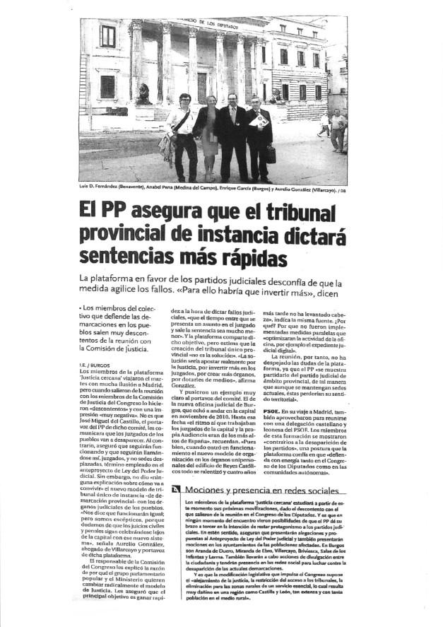 EL PP ASEGURA QUE EL TRIBUNAL PROVINCIAL DE INSTANCIA DICTARÁ SENTENCIAS MÁS RÁPIDAS