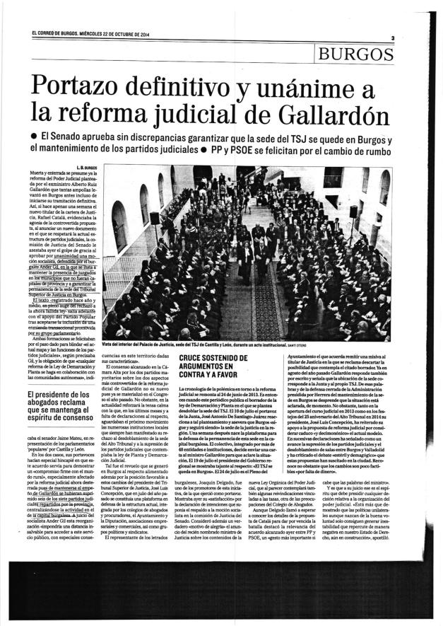 EL CORREO DE BURGOS - 22/10/2014